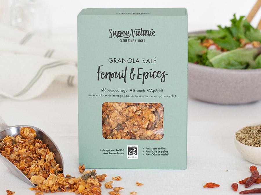 granola salé au fenouil et épices