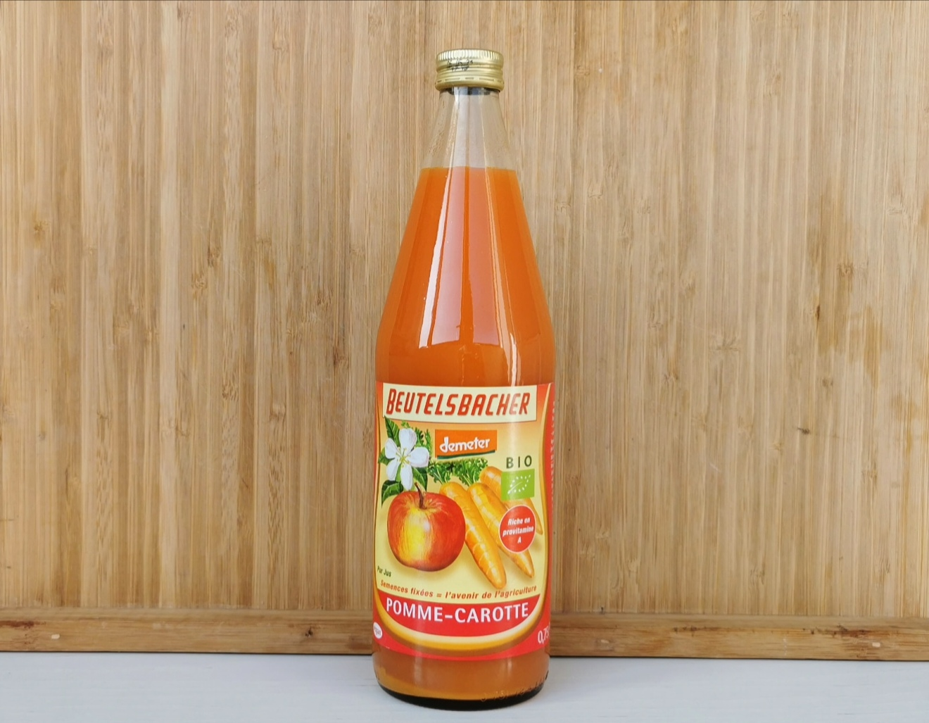 jus de pomme carotte Demeter