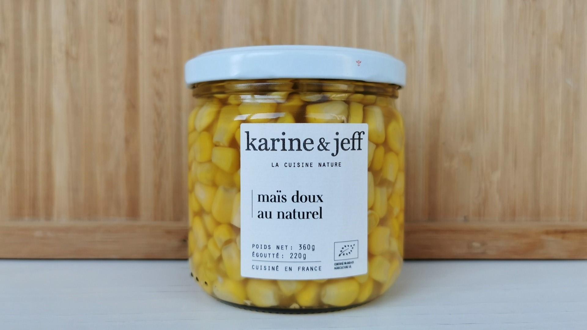 maïs en bocal